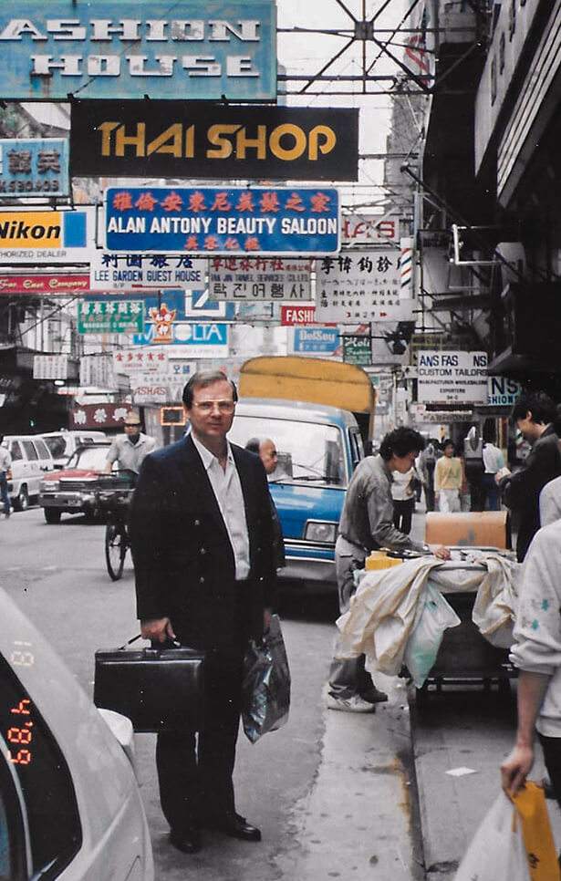 Am Weg ins Büro Bangkok 1988