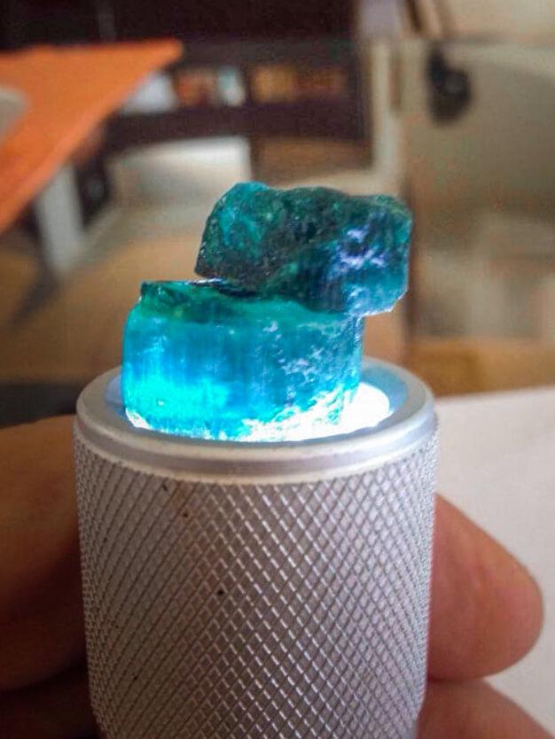 Indigolith-blauer Turmalin)