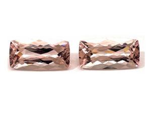 Morganit-Paar 17,73 ct. Morganit kaufen Schmucksteine Edelsteine