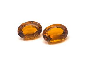 Citrin-Paar 12,46 ct. Alle Edelsteine kaufen Schmucksteine Edelsteine