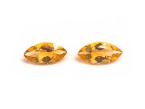 Citrin-Paar 6,97 ct. Alle Edelsteine kaufen Schmucksteine Edelsteine