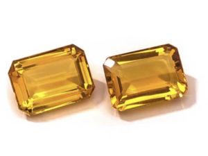 Citrin-Paar 30,74 ct. Alle Edelsteine kaufen Schmucksteine Edelsteine