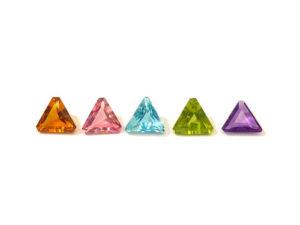 Triangel-Set facettiert 3,50 ct. Alle Edelsteine kaufen Schmucksteine Edelsteine