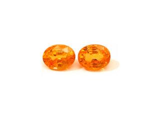 Spessartin-Paar 4,10 ct. Spessartin kaufen Schmucksteine Edelsteine
