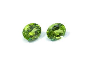 Peridot-Paar 6,16 ct. Alle Edelsteine kaufen Schmucksteine Edelsteine