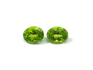 Peridot-Paar 6,24 ct. Alle Edelsteine kaufen Schmucksteine Edelsteine 3