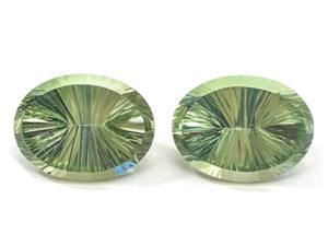 Prasiolith-Paar 32,64 ct. Alle Edelsteine kaufen Schmucksteine Edelsteine