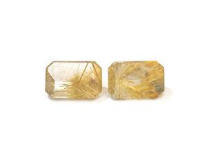 Rutilquarz-Paar 12,47 ct. Alle Edelsteine kaufen Schmucksteine Edelsteine