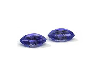Tansanit-Paar 2,62 ct Alle Edelsteine kaufen Schmucksteine Edelsteine