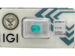 Paraiba-Turmalin 3,10 ct. mit Zertifikat Alle Edelsteine kaufen Schmucksteine Edelsteine