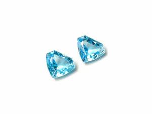 Blautopas-Paar 5.52 ct. Blautopas kaufen Schmucksteine Edelsteine