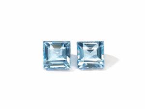 Blautopas-Paar 12.27 ct. Blautopas kaufen Schmucksteine Edelsteine
