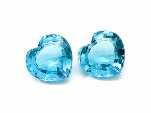 Blautopas-Paar 45.98 ct. Blautopas kaufen Schmucksteine Edelsteine