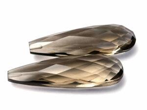 Rauchquarz-Paar 30.71 ct. Alle Edelsteine kaufen Schmucksteine Edelsteine